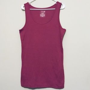 PLUS SIZE TIME & TRU TANK TOP STRETCHY LONG SOFT